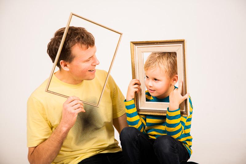 isa ja poeg fotostuudios